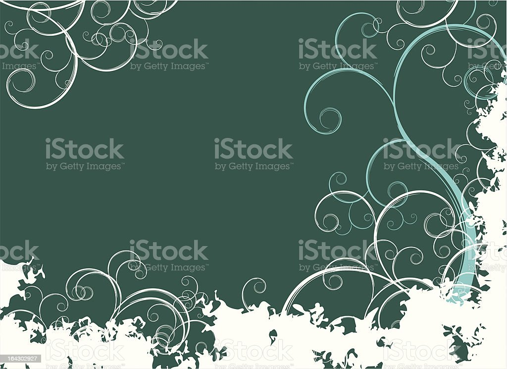 floral abstract composition royalty-free stock vector art