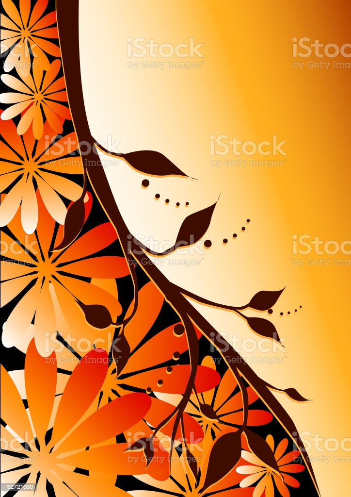 Floral Amber Curves royalty-free stock vector art