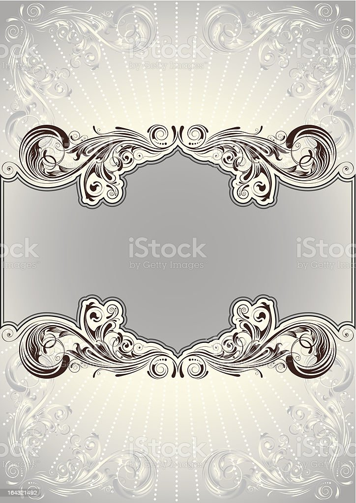Floral background document royalty-free stock vector art