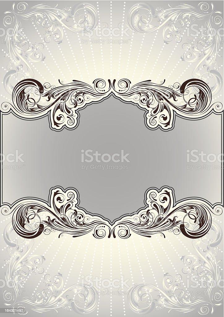 Floral background document vector art illustration