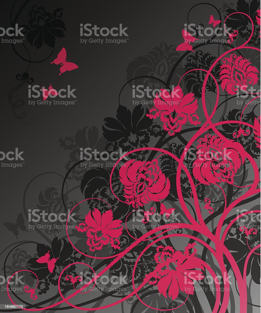 Floral background. Vector illustration. royalty-free stock vector art