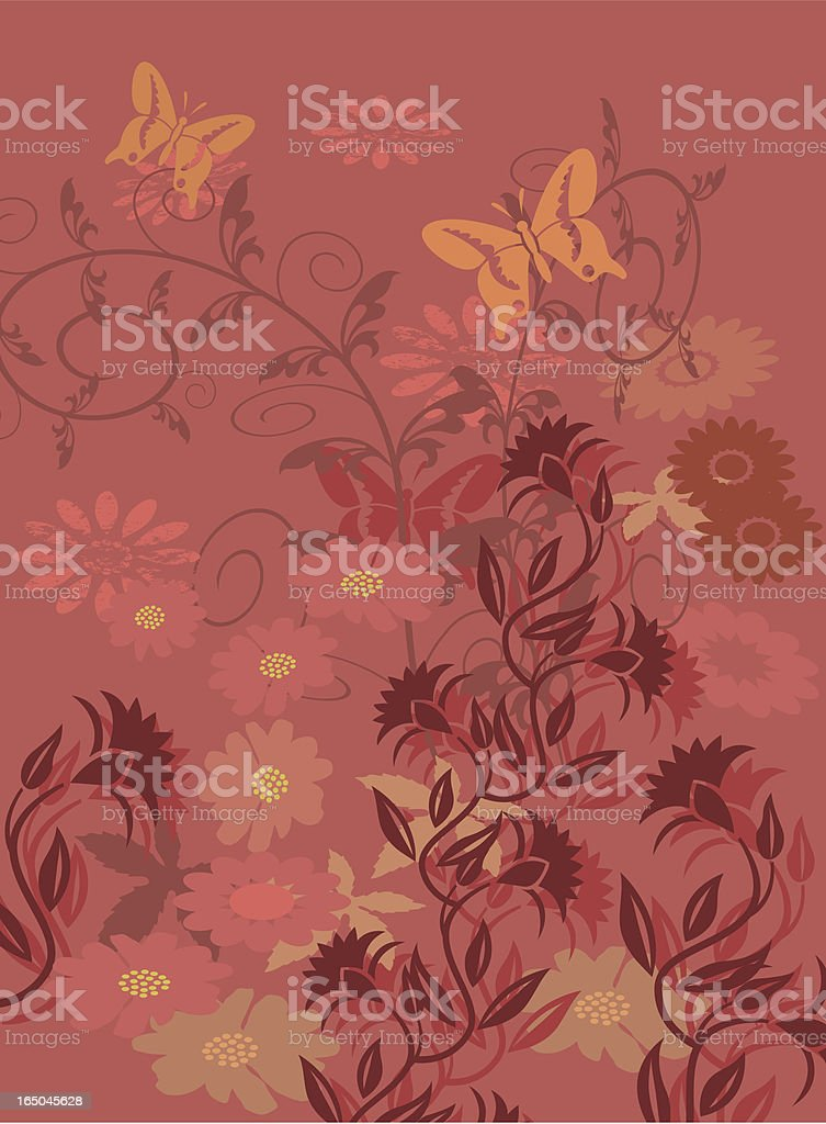 Floral border background royalty-free stock vector art