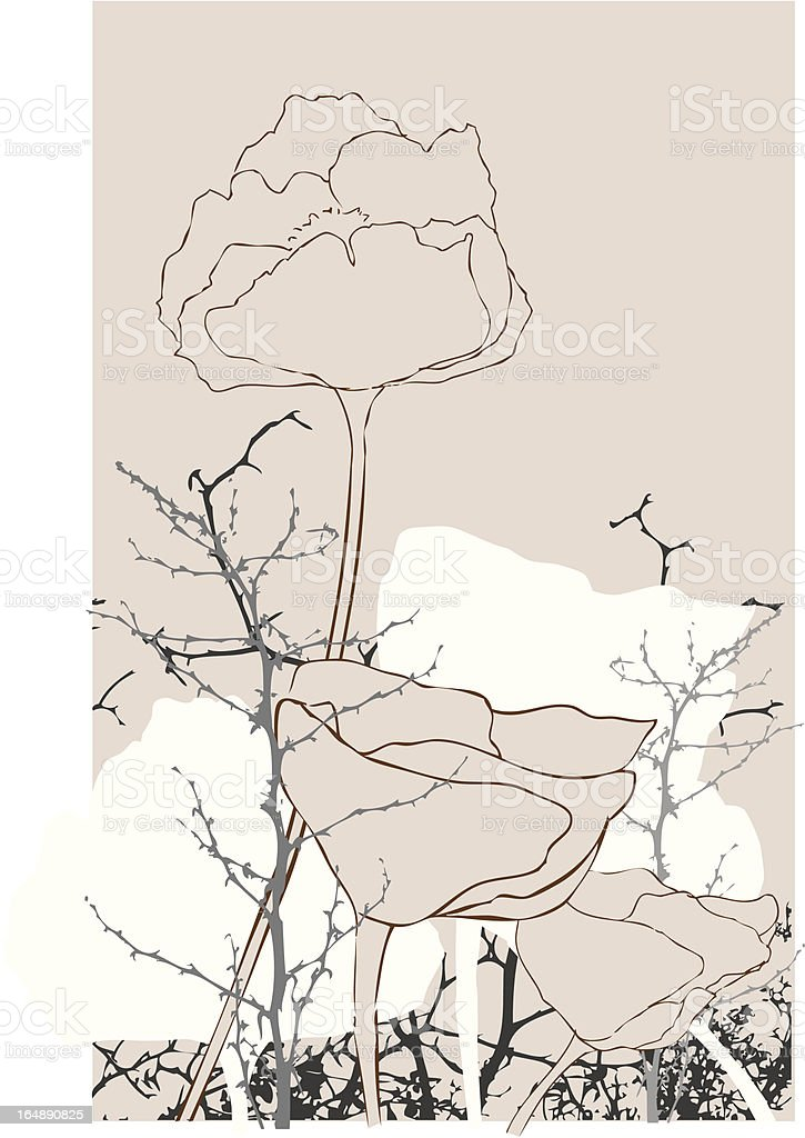 Floral & Branch collage royalty-free stock vector art