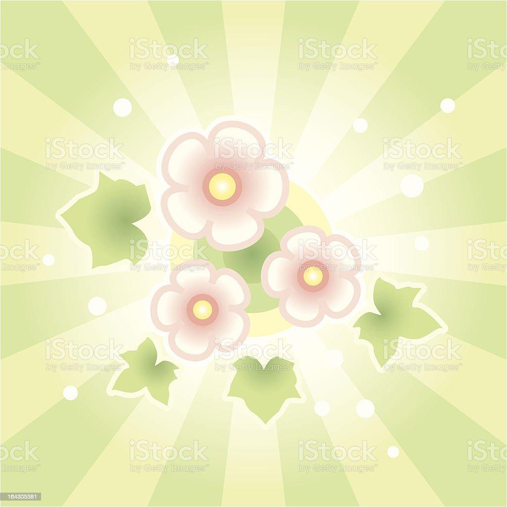 Floral Burst royalty-free stock vector art
