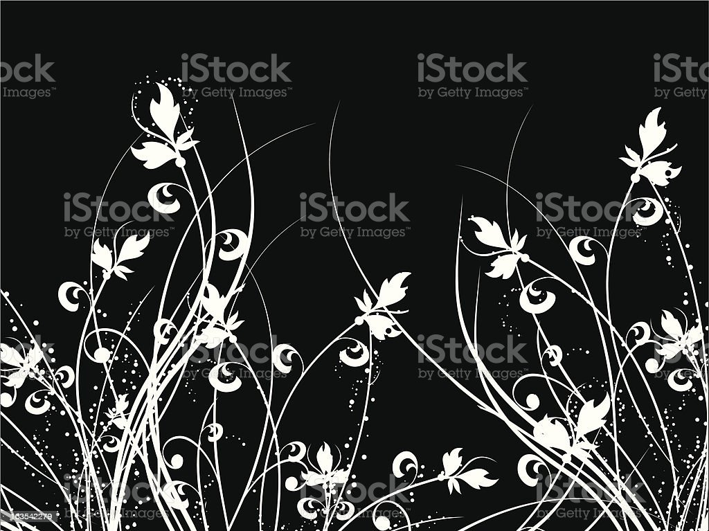 Floral chaos royalty-free stock vector art