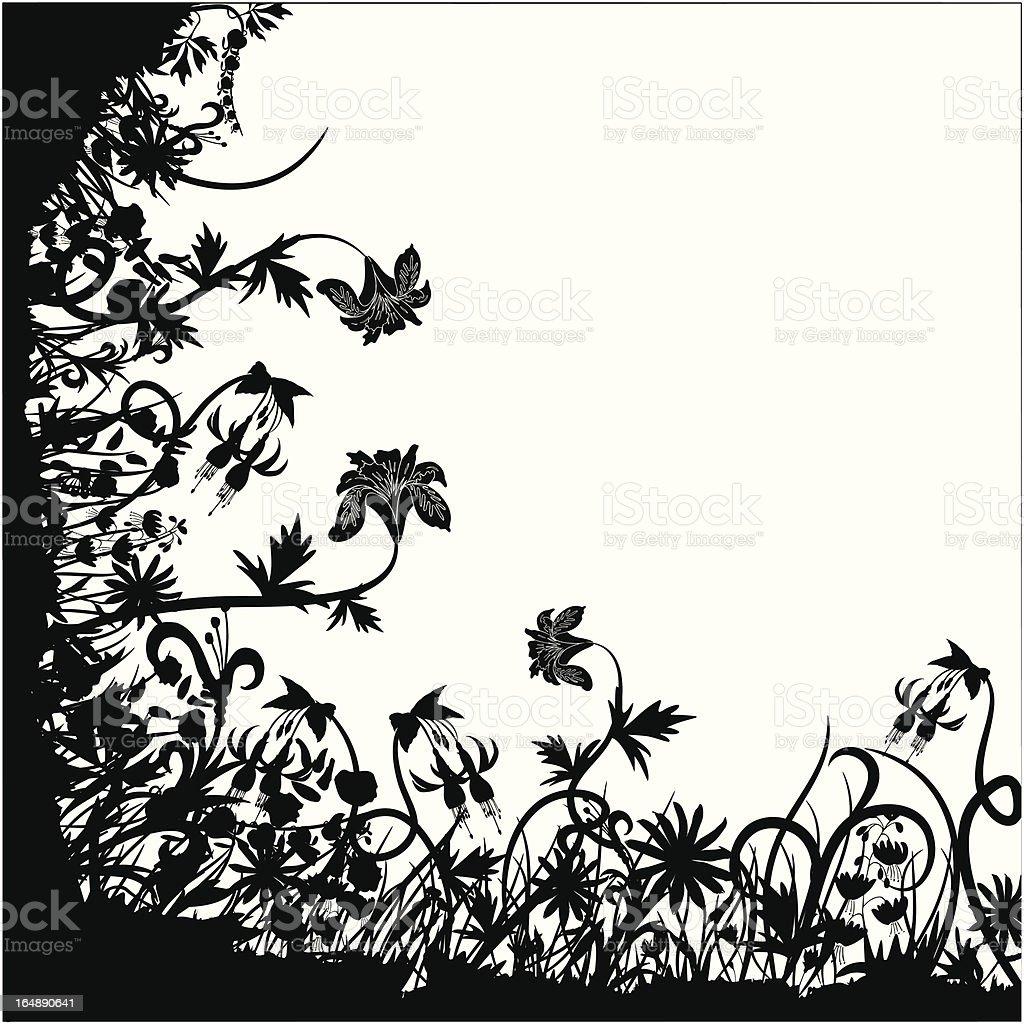 Floral chaos, vector royalty-free stock vector art