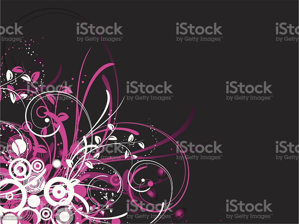 Floral choas royalty-free stock vector art