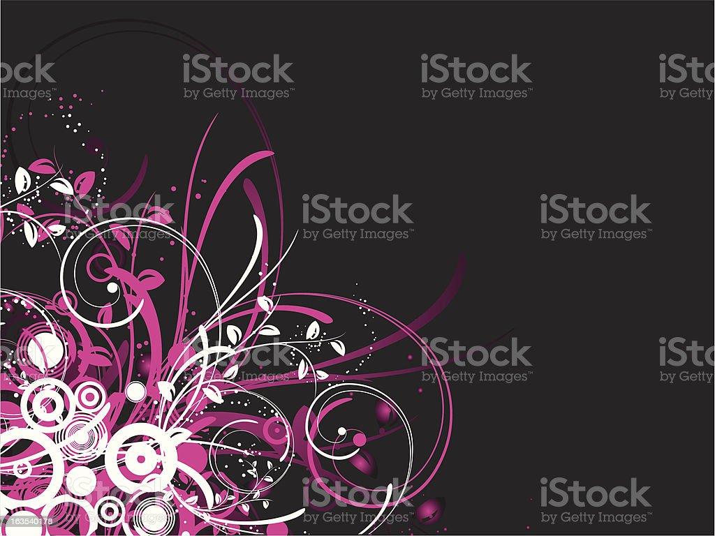 Floral choas vector art illustration
