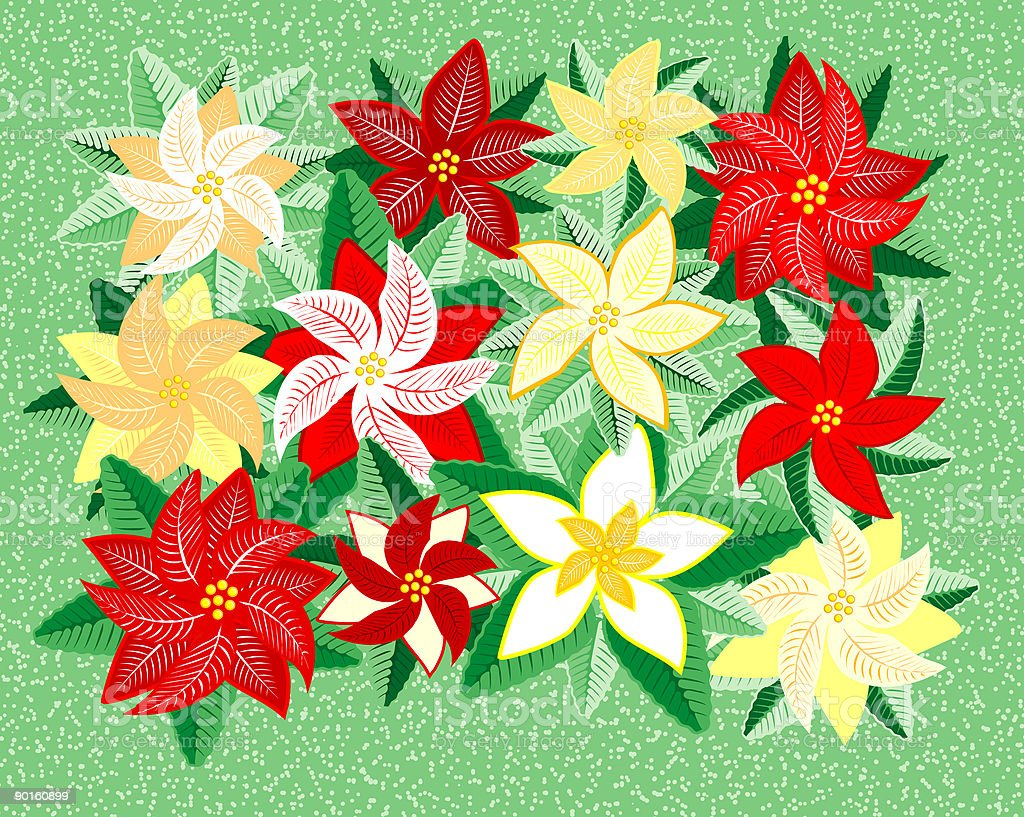 Floral Christmas royalty-free stock vector art