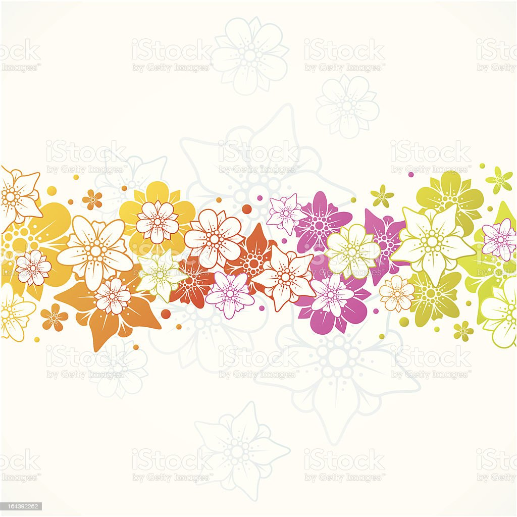 Floral colorful background royalty-free stock vector art