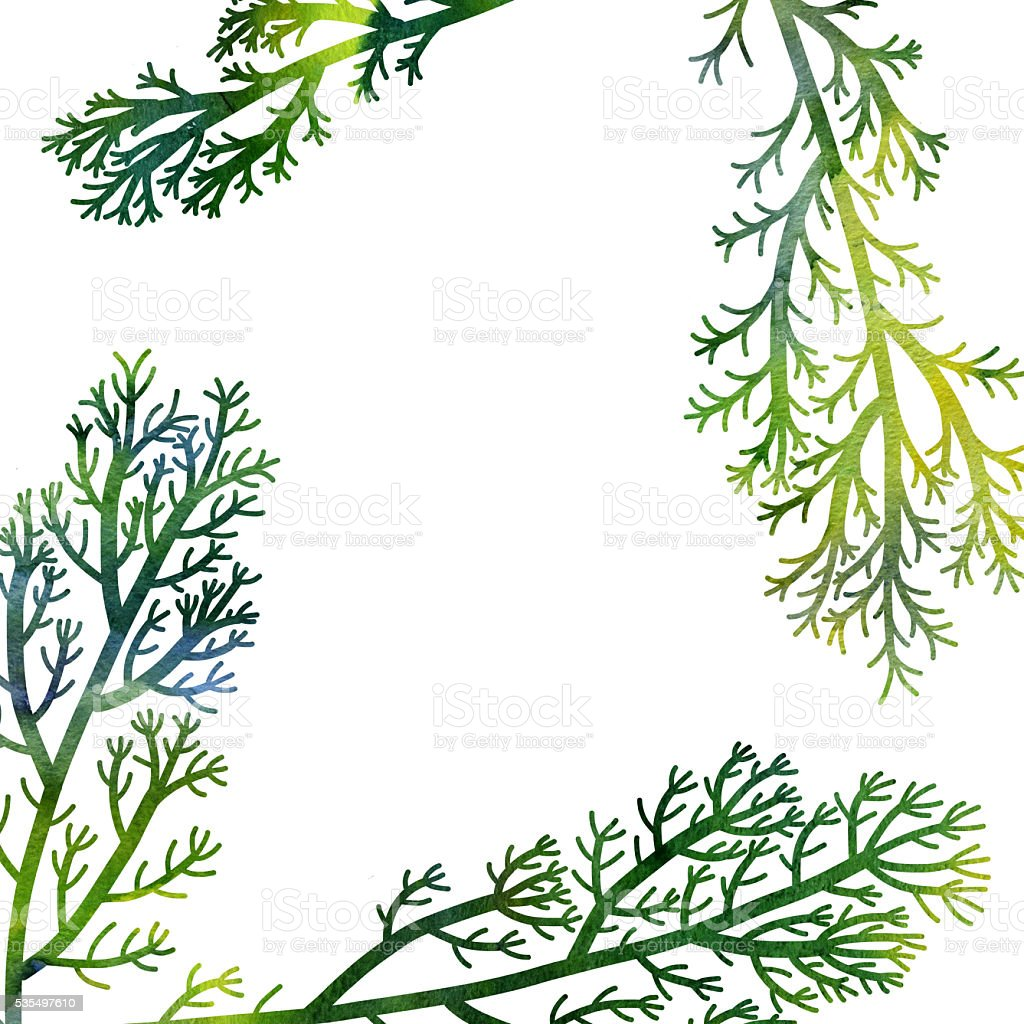 floral composition plants and leaves vector art illustration