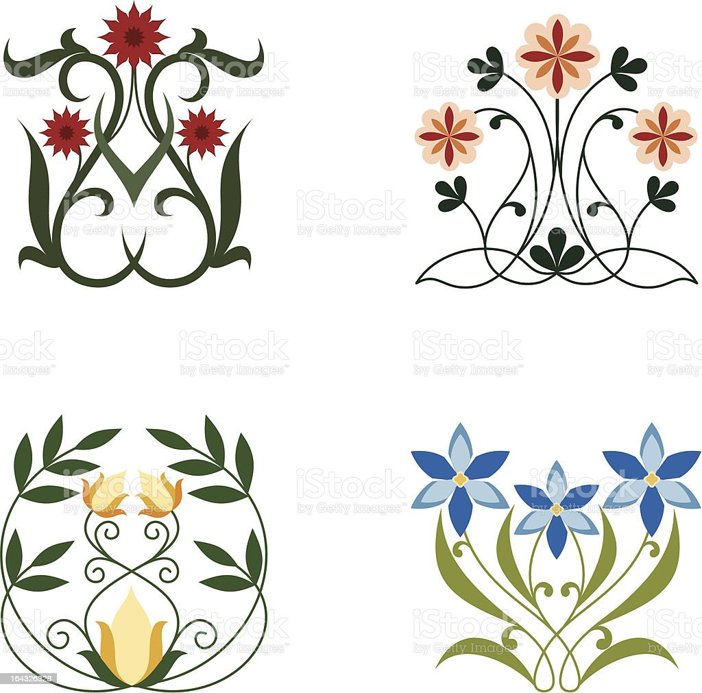 Floral Curve 3 royalty-free stock vector art