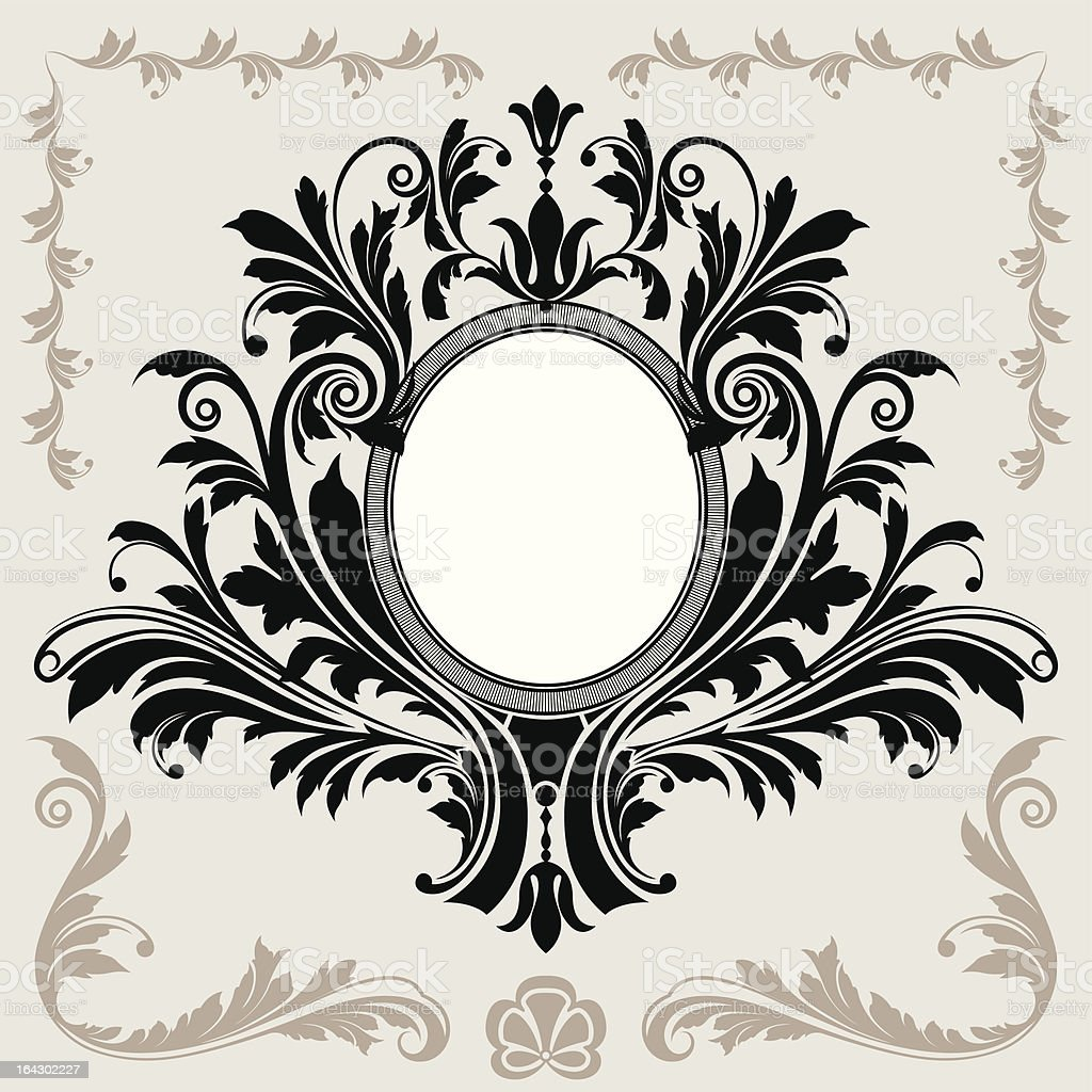 Floral Decoration Frame royalty-free stock vector art