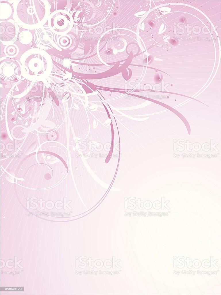 Floral decoration vector art illustration