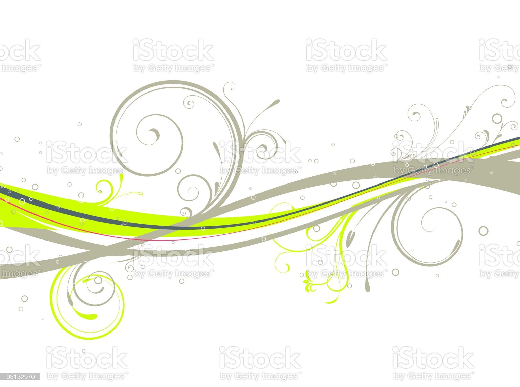 Floral Decorative background royalty-free stock vector art