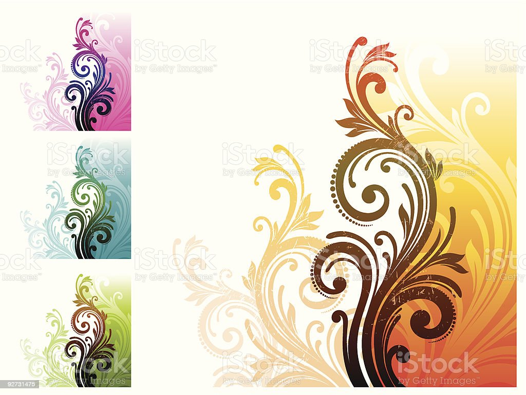 Floral decorative ornament royalty-free stock vector art
