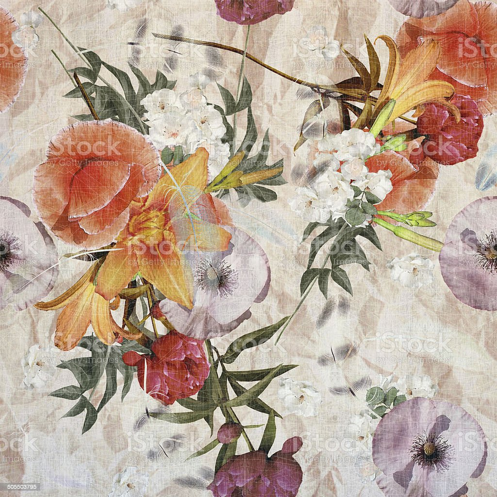 floral design vector art illustration