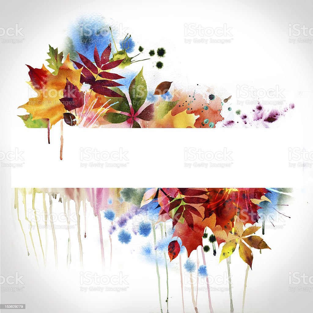 floral design, watercolor painting royalty-free stock vector art