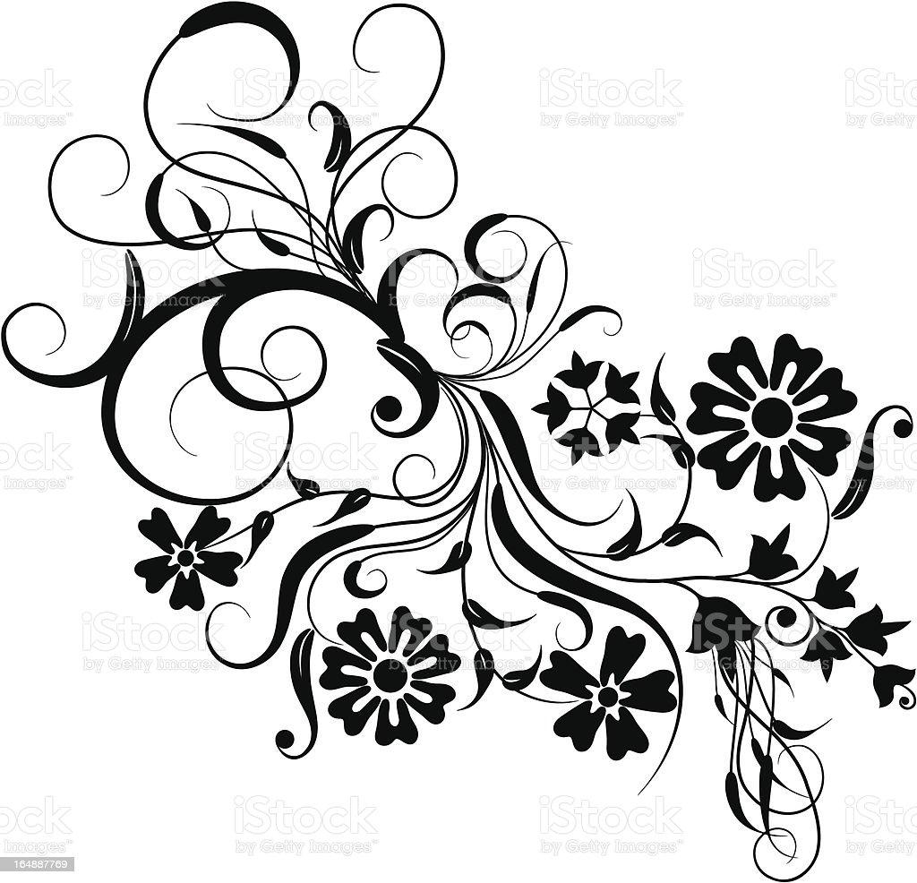 Floral element for design vector art illustration