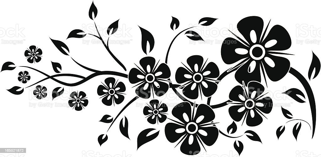 Floral element for design royalty-free stock vector art