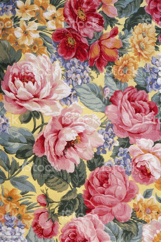 Floral Fabric 01 vector art illustration
