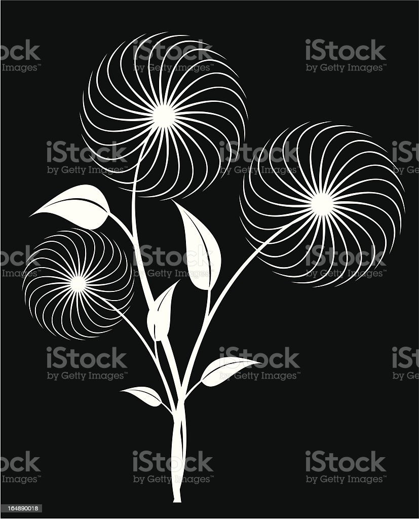 floral flower decoration royalty-free stock vector art