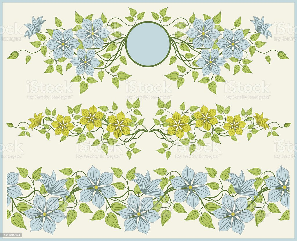 Floral frame and border. royalty-free stock vector art
