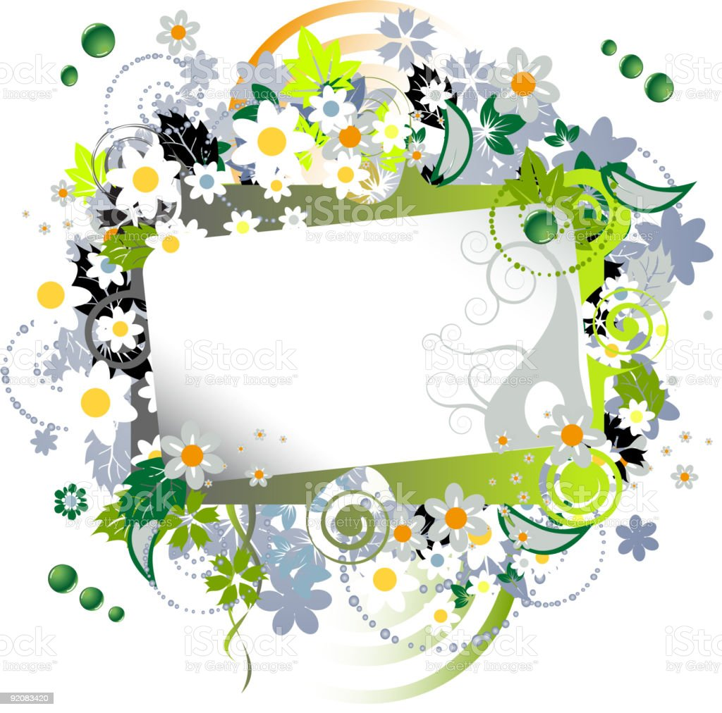 Floral frame beautiful royalty-free stock vector art
