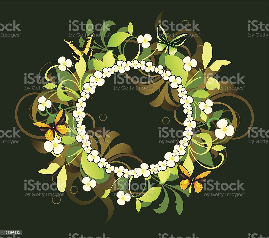 Floral frame ie decorated design elements royalty-free stock vector art
