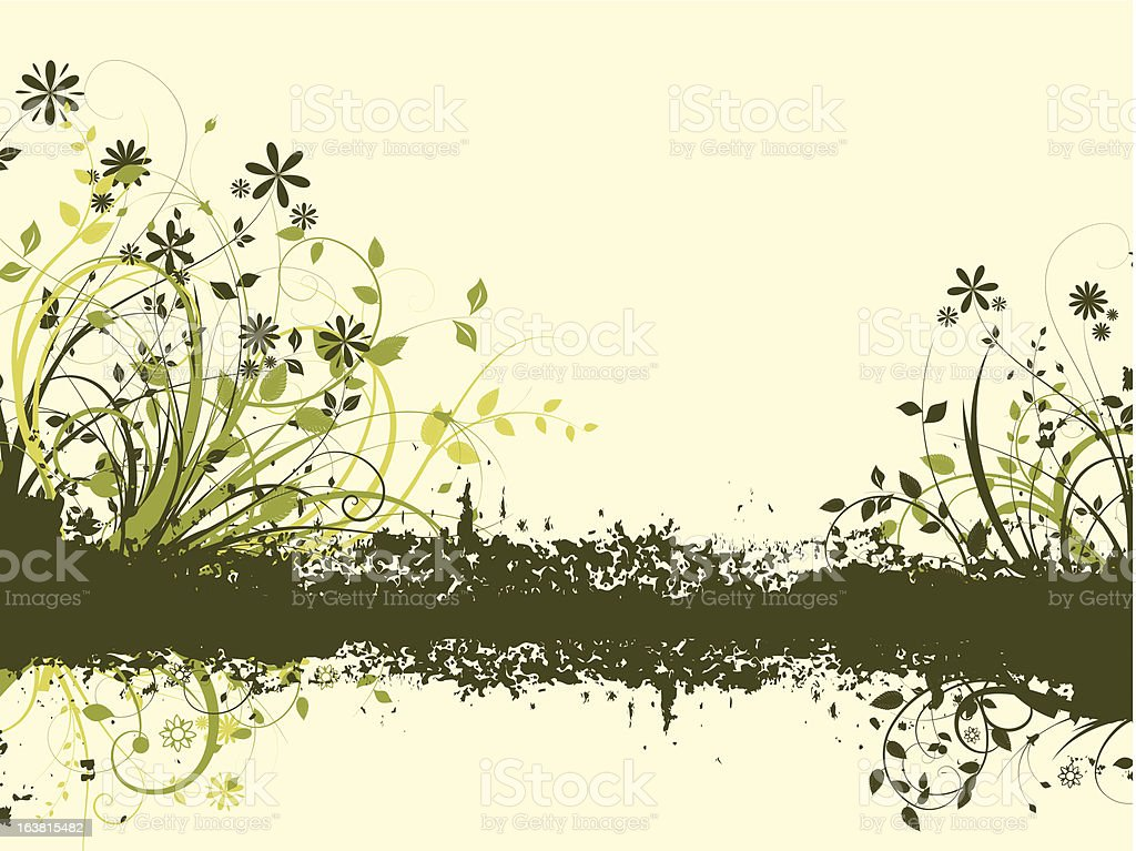 Floral grunge royalty-free stock vector art