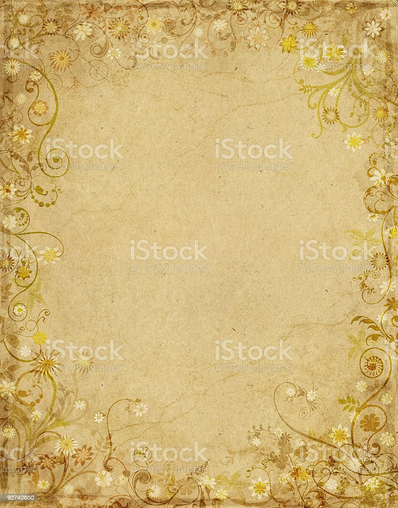 Floral Grunge Paper royalty-free stock vector art