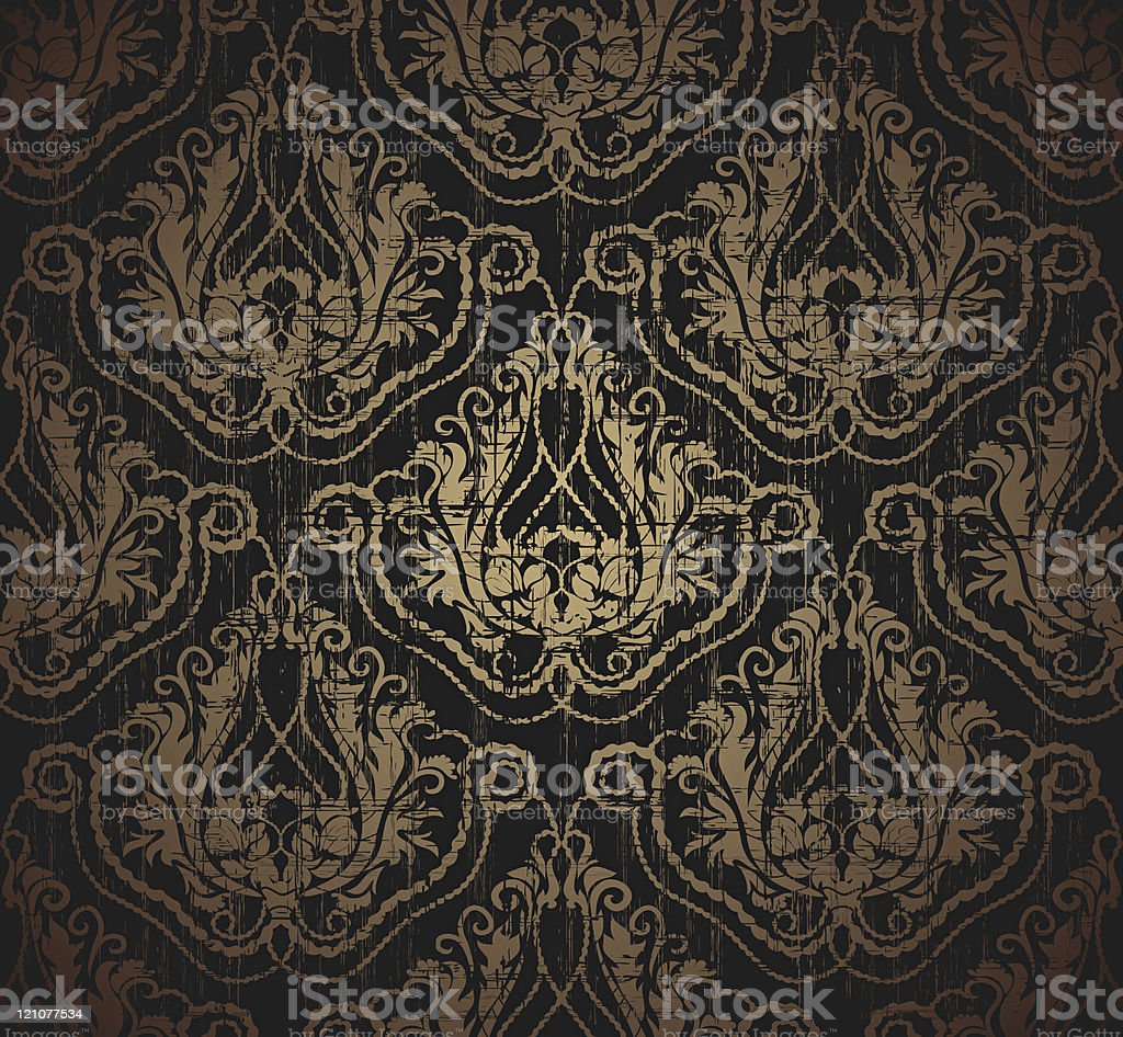 Floral grunge seamless ornament royalty-free stock vector art