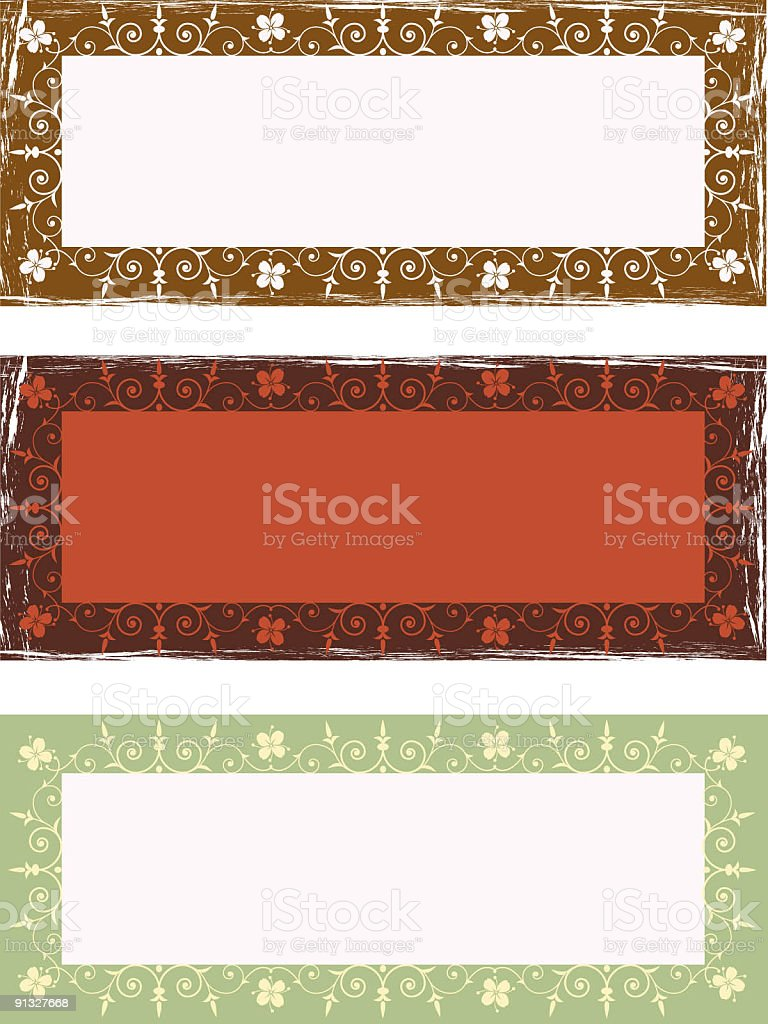 Floral  label royalty-free stock vector art