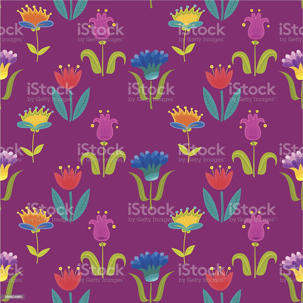 Floral Pattern (Tulips) royalty-free stock vector art