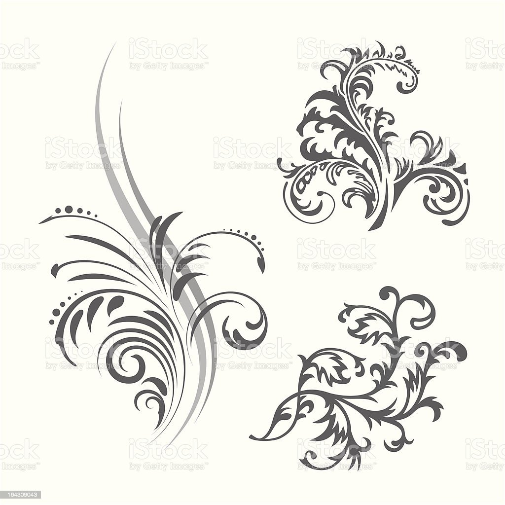Floral pattern set royalty-free stock vector art