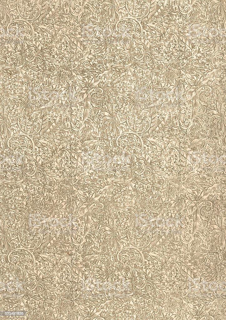 Floral patterned vintage paper background vector art illustration
