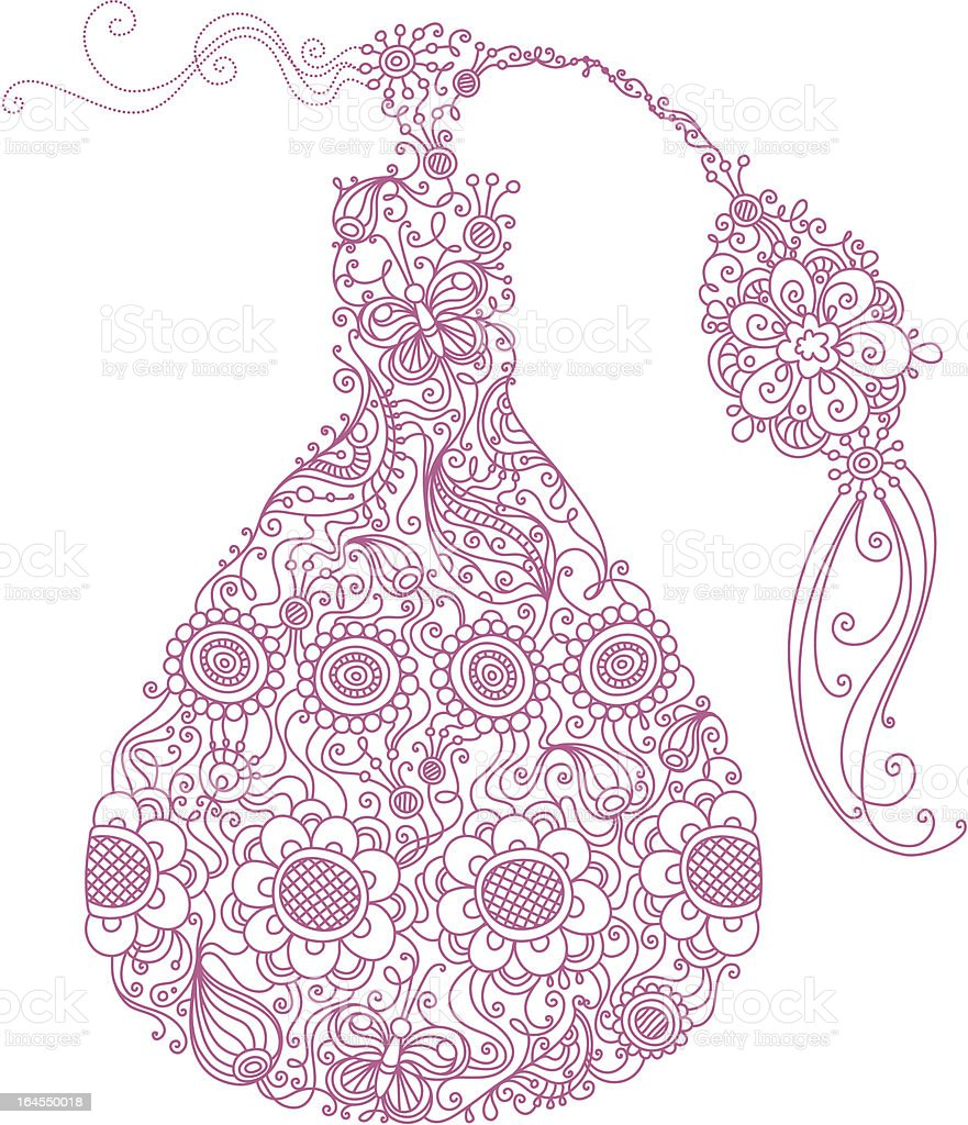 Floral perfume vector art illustration