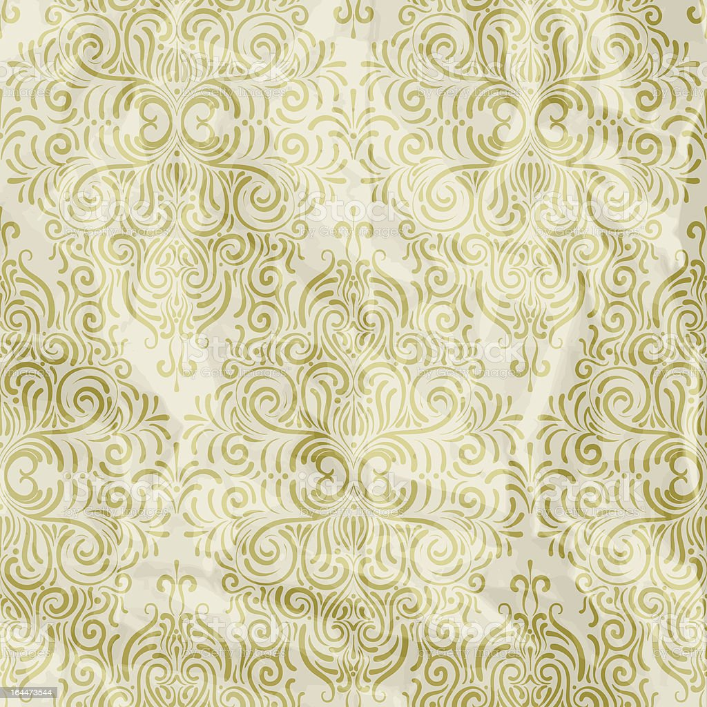 floral seamless pattern on crumpled paper royalty-free stock vector art