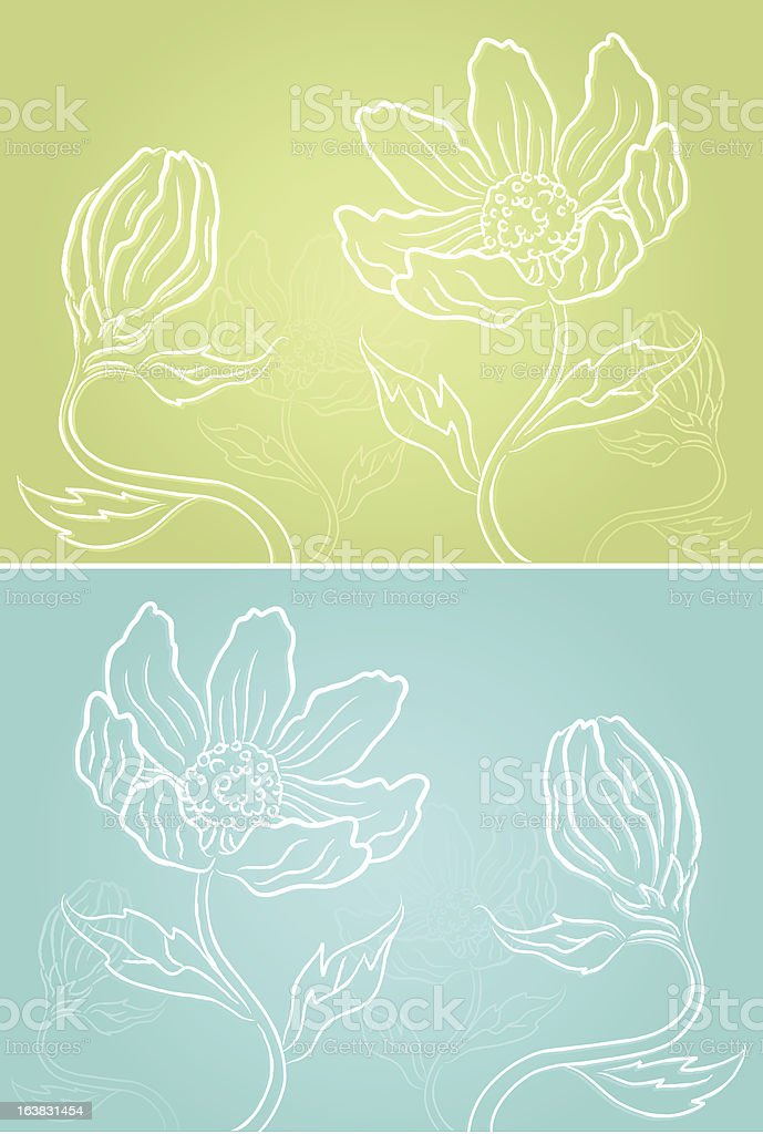 Floral Sketch royalty-free stock vector art