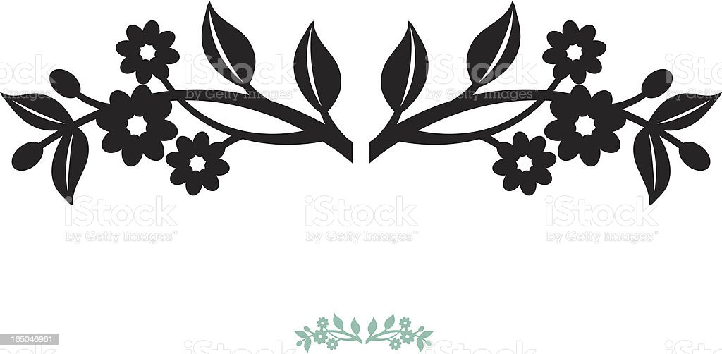 Floral sprig royalty-free stock vector art