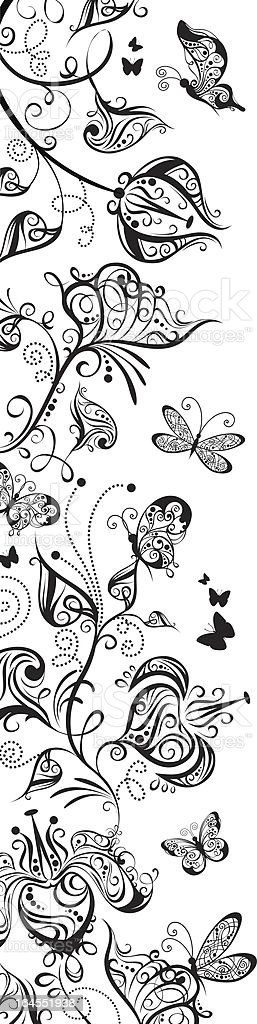Floral stripe royalty-free stock vector art