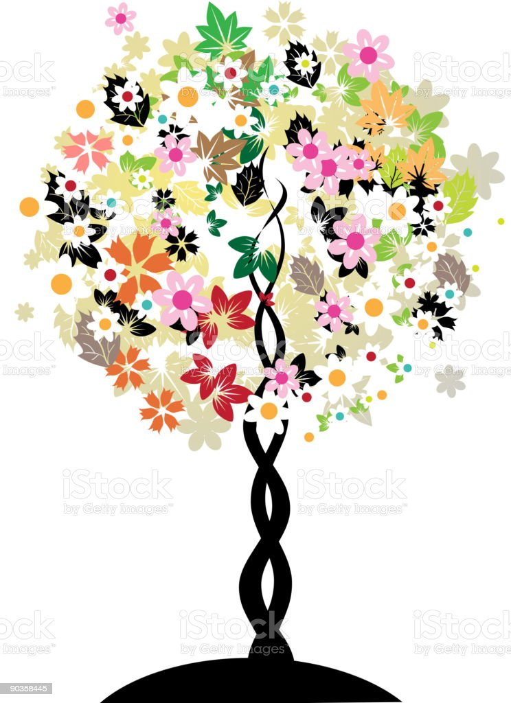Floral tree royalty-free stock vector art