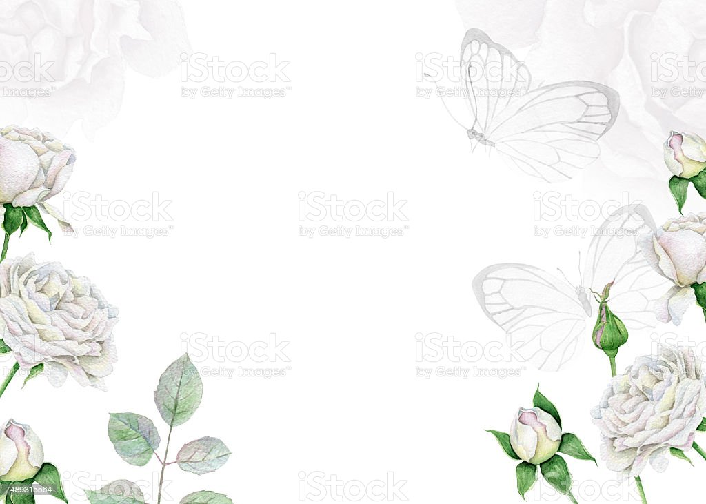 Floral Vintage Frame vector art illustration
