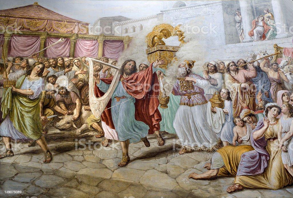 Florence - King David by dance vector art illustration