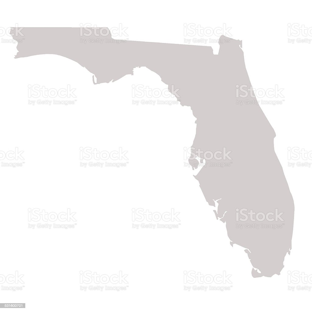 Florida State map vector art illustration