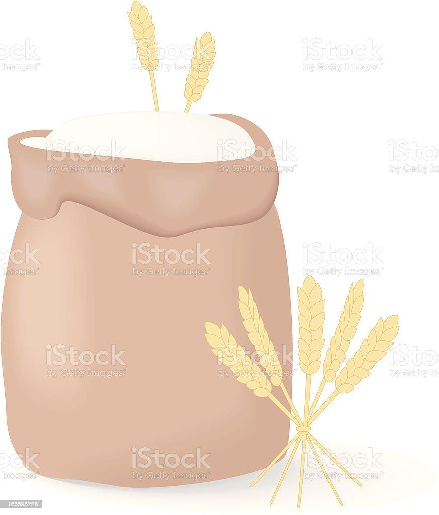 Flour vector art illustration