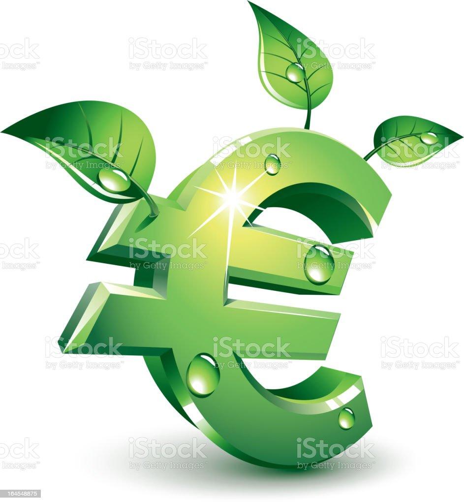 Flourishing euro vector art illustration