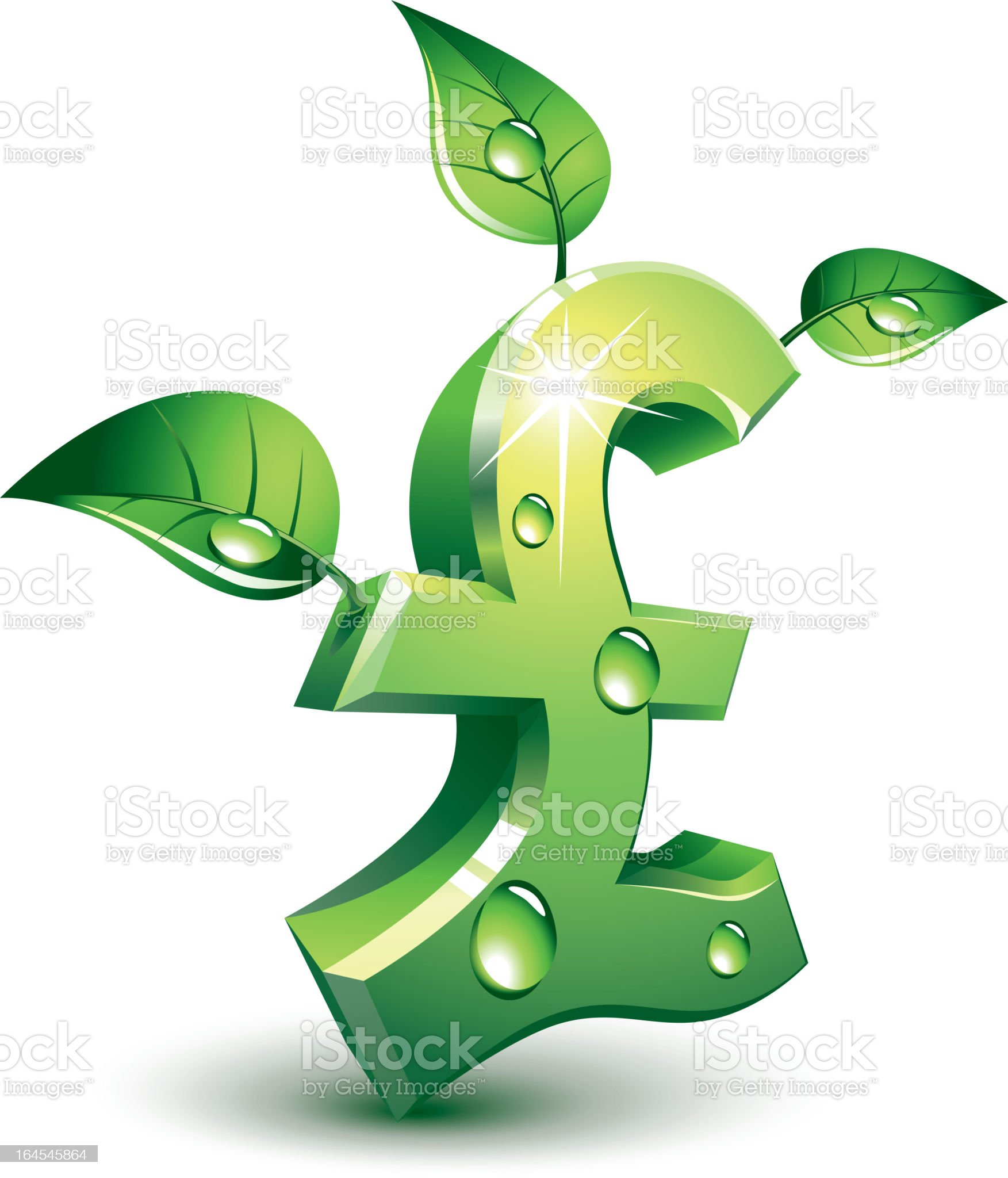 Flourishing pound royalty-free stock vector art