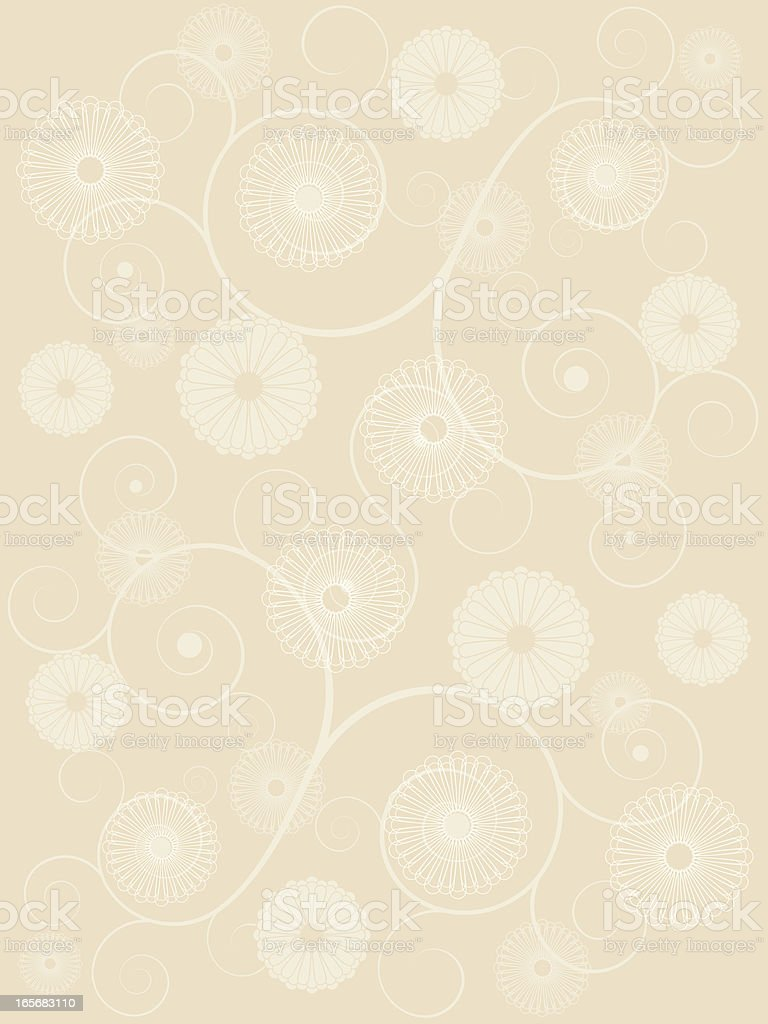 flower and spiral background royalty-free stock vector art