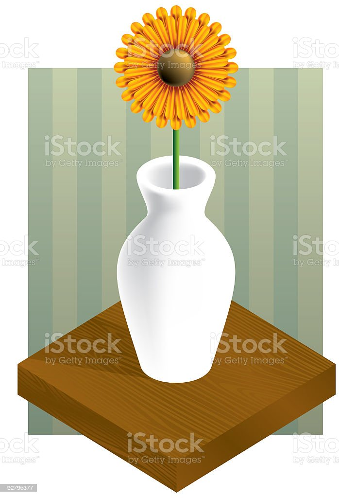 flower and vase vector royalty-free stock vector art